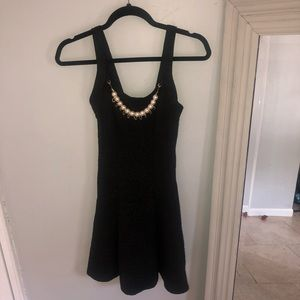Love culture black pearl embossed dress Small
